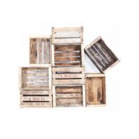 Caisse en bois brut