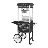 Location machine a pop corn sur chariot noire