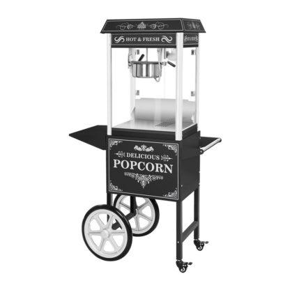 Machine a pop corn sur chariot noire