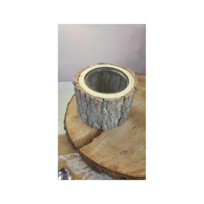 Bougeoir écorce de bois