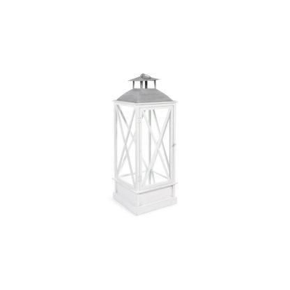 Lanterne en bois blanche -tête grise