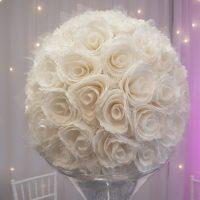 Boule de fleurs dentelle D40cm