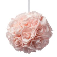 Boule de fleurs rose pâle D20cm