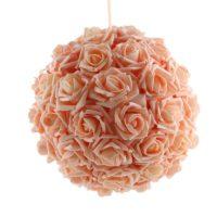Boule de fleurs corail D20cm