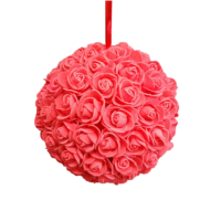 Boule de fleurs rouge D20cm