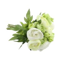 Bouquet de renoncule white/green