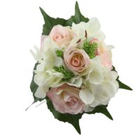 Bouquet hortensia pinck/cream