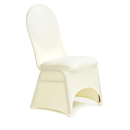 Housse de chaise Lycra - Ivoire