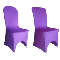 Housse de chaise Lycra - Violet