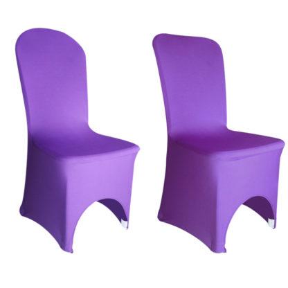 Location housse de chaise Lycra - Violet