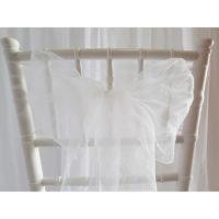 Nœud de chaise Organza - Blanc
