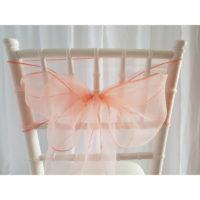 Nœud de chaise Organza - Abricot