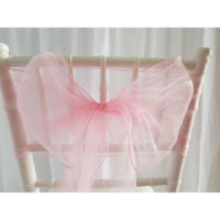 Location nœud de chaise Organza - Rose pale