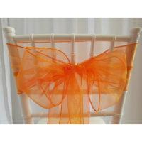 Nœud de chaise Organza - Orange