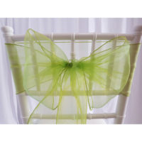Nœud de chaise Organza - Vert sapin