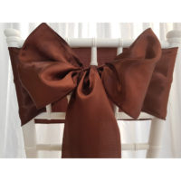 Nœud de chaise Satin - Chocolat