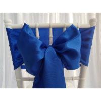 Nœud de chaise Satin - Bleu roi