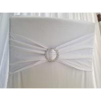 Bandeau de chaise Lycra - Blanc