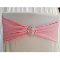 Location bandeau de chaise Lycra - Rose pale