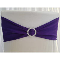 Bandeau de chaise Lycra - Violet