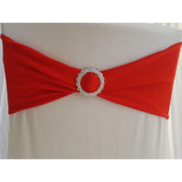 Bandeau de chaise Lycra - Rouge