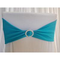 Bandeau de chaise Lycra - Turquoise