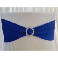 Bandeau de chaise Lycra - Bleu roi