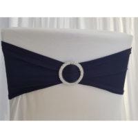 Bandeau de chaise Lycra - Bleu marine