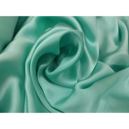 Chemin de table Satin - Vert eau (turquoise)