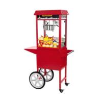 Location machine à pop corn sur chariot rouge