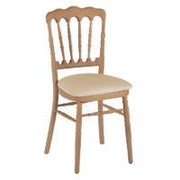 Chaise napoléon en bois naturel