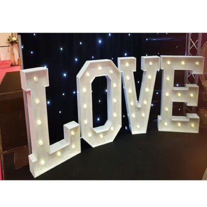 Lettres LOVE géant lumineux