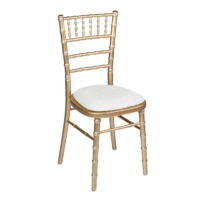 Chaise chivari dorée
