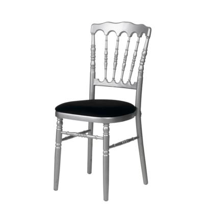 Chaise napoléon argentée