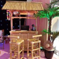Bar en bambou + 3 tabourets
