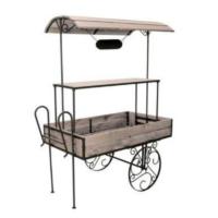 Location chariot candy bar en bois et fer forgé