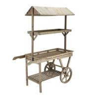 Location chariot candy bar en bois brut