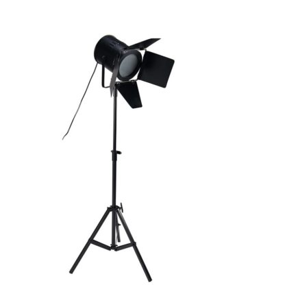 Location lampadaire trépied métal noir