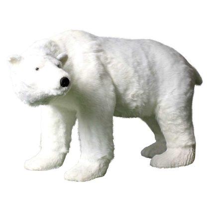 Ours blanc en peluche géant H92cm