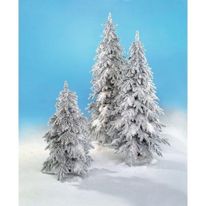 Sapin d'hiver enneigé Led H150cm
