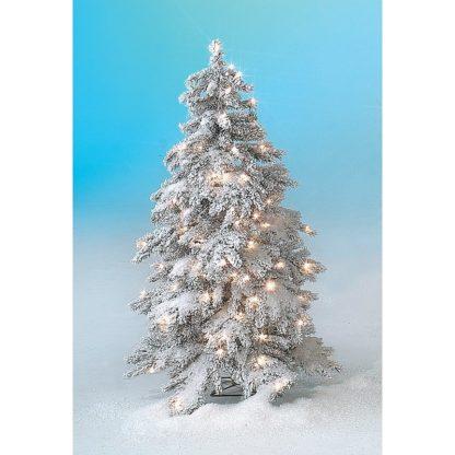 Sapin d'hiver enneigé Led H120cm