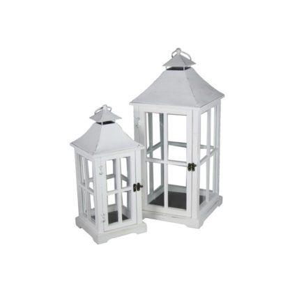 Lanterne blanche H46cm