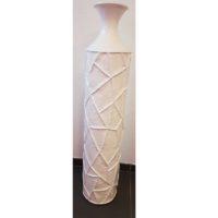 Grand Vase Da Vinci blanc H127cm