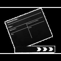 Clap de fin de film noir (petit modèle)