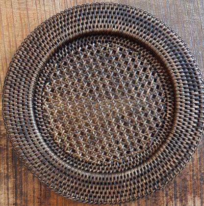 Sous-assiette en rotin antique