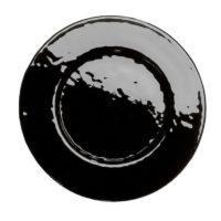 Assiette Cristallo Noire (assiette de présentation)