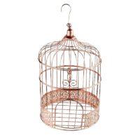 Cage à oiseau cuivrée