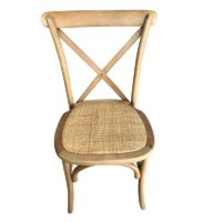 Location chaise bistrot Wood - Bois clair