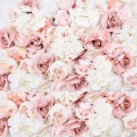 """Mur Floral Rose & Mauve """"Romance"""""""