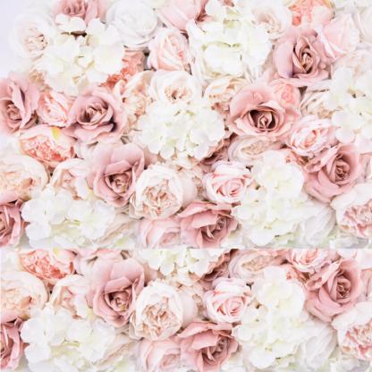 "Location mur Floral Rose & Mauve ""Romance"""